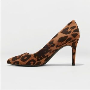 Women's Gemma Pointed Toe Heeled Pumps - A New Day